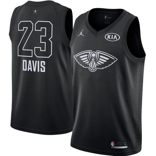 Nike Pelicans #23 Anthony Davis Black NBA Jordan Swingman 2018 All-Star Game Jersey