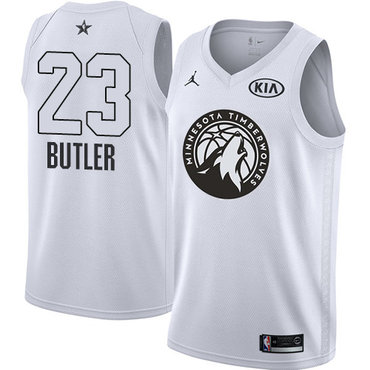 Nike Timberwolves #23 Jimmy Butler White NBA Jordan Swingman 2018 All-Star Game Jersey