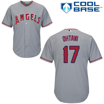 LA Angels of Anaheim #17 Shohei Ohtani Grey New Cool Base Stitched MLB Jersey