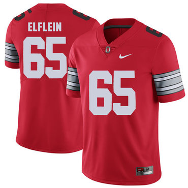 Ohio State Buckeyes 65 Pat Elflein Red 2018 Spring Game College Football Limited Jersey