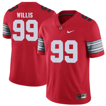 Ohio State Buckeyes 99 Bill Willis Red 2018 Spring Game College Football Limited Jersey