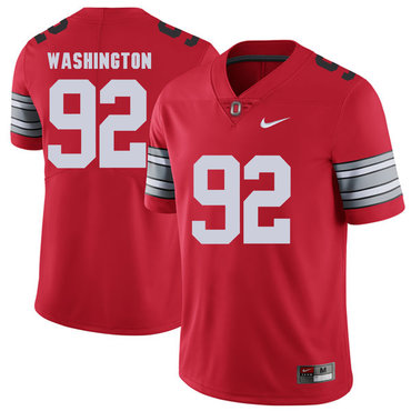 Ohio State Buckeyes 92 Adolphus Washington Red 2018 Spring Game College Football Limited Jersey