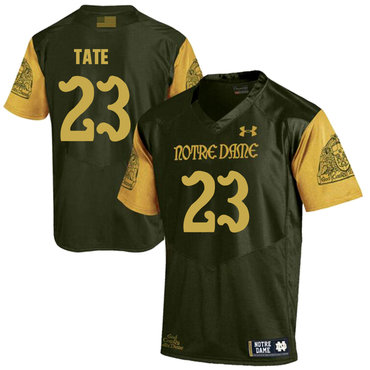 Notre Dame Fighting Irish 23 Golden Tate Olive Green College Football Jersey