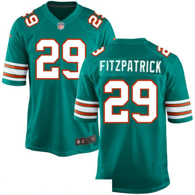 Men's Miami Dolphins #29 Minkah Fitzpatrick Aqua Green Alternate Stitched NFL Nike Game Jersey