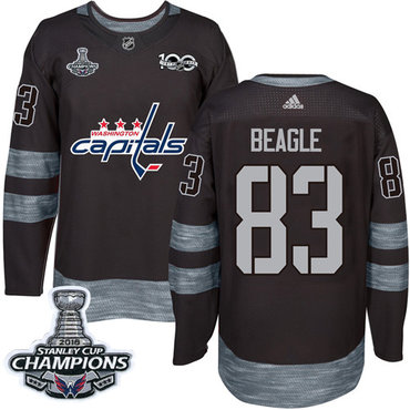 Adidas Washington Capitals #83 Jay Beagle Black 1917-2017 100th Anniversary Stanley Cup Final Champions Stitched NHL Jersey