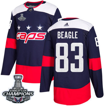 Adidas Washington Capitals #83 Jay Beagle Navy Authentic 2018 Stadium Series Stanley Cup Final Champions Stitched NHL Jersey