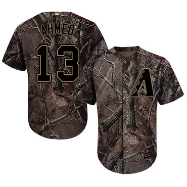 Arizona Diamondbacks #13 Nick Ahmed Camo Realtree Collection Cool Base Stitched MLB Jersey