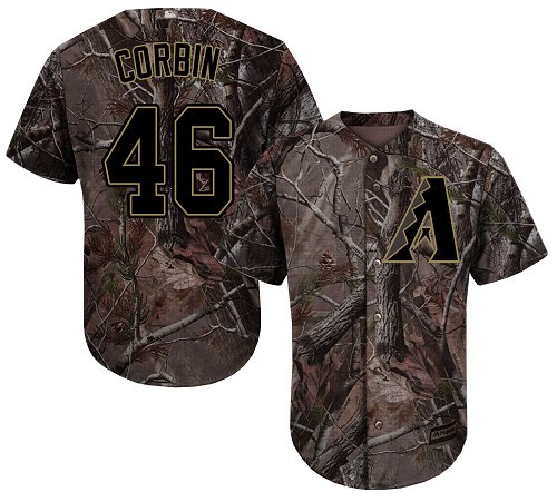 Arizona Diamondbacks #46 Patrick Corbin Camo Realtree Collection Cool Base Stitched MLB Jersey