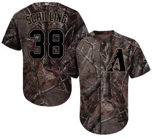 Arizona Diamondbacks #38 Curt Schilling Camo Realtree Collection Cool Base Stitched MLB Jersey
