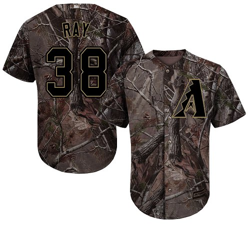 Arizona Diamondbacks #38 Robbie Ray Camo Realtree Collection Cool Base Stitched MLB Jersey