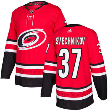 Adidas Hurricanes #37 Andrei Svechnikov Red Home Authentic Stitched NHL Jersey