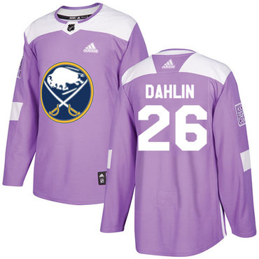 Adidas Buffalo Sabres #26 Rasmus Dahlin Purple Authentic Fights Cancer Stitched NHL Jersey
