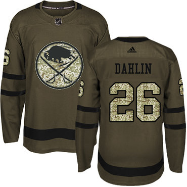 Adidas Buffalo Sabres #26 Rasmus Dahlin Green Salute to Service Stitched NHL Jersey