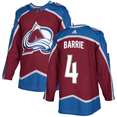 Adidas Colorado Avalanche #4 Tyson Barrie Burgundy Home Authentic Stitched NHL Jersey