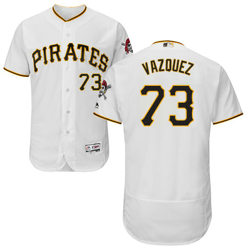 Pittsburgh Pirates 73 Felipe Vazquez White Flexbase Authentic Collection Stitched Baseball Jersey