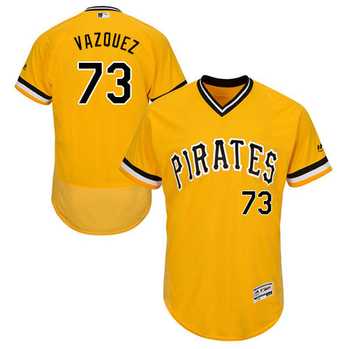 Pittsburgh Pirates 73 Felipe Vazquez Gold Flexbase Authentic Collection Stitched Baseball Jersey