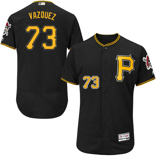 Pittsburgh Pirates 73 Felipe Vazquez Black Flexbase Authentic Collection Stitched Baseball Jersey