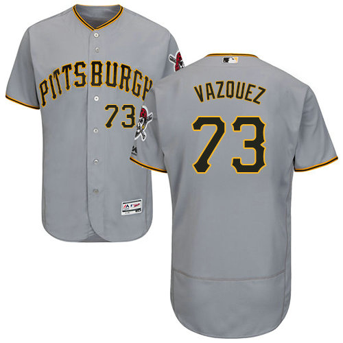 Pittsburgh Pirates 73 Felipe Vazquez Grey Flexbase Authentic Collection Stitched Baseball Jersey