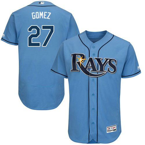 Tampa Bay Rays #27 Carlos Gomez Light Blue Flexbase Authentic Collection Stitched Baseball Jersey
