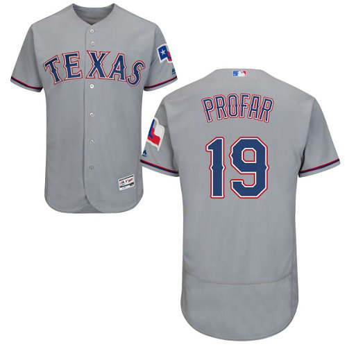 Texas Rangers #19 Jurickson Profar Grey Flexbase Authentic Collection Stitched Baseball Jersey