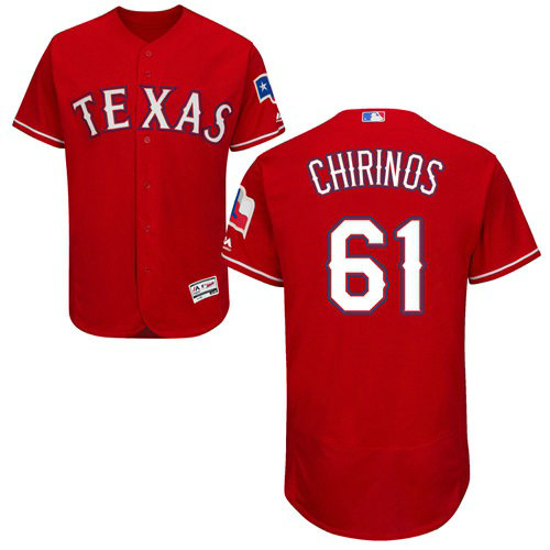Texas Rangers #61 Robinson Chirinos Red Flexbase Authentic Collection Stitched Baseball Jersey