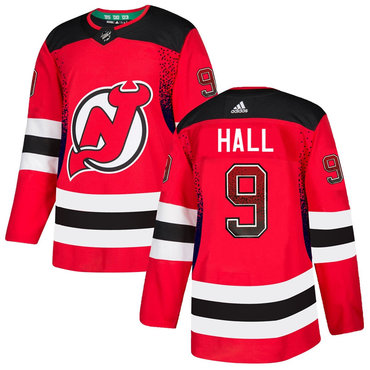 Men's New Jersey Devils #9 Taylor Hall Red Drift Fashion Adidas Jersey