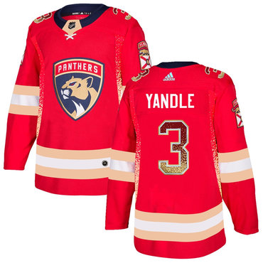 Men's Florida Panthers #3 Keith Yandle Red Drift Fashion Adidas Jersey