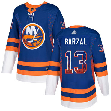 Men's New York Islanders #13 Mathew Barzal Royal Drift Fashion Adidas Jersey