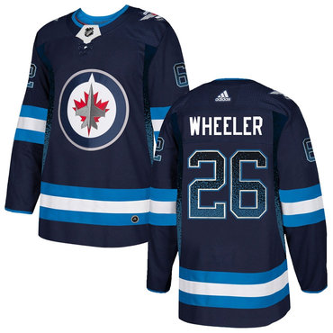 Men's Winnipeg Jets #26 Blake Wheeler Navy Drift Fashion Adidas Jersey