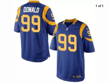 Men's Los Angeles Rams #99 Aaron Donald Royal Blue Alternate Nike Game Jersey