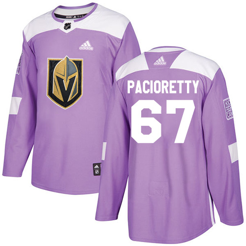 Adidas Vegas Golden Knights #67 Max Pacioretty Purple Authentic Fights Cancer Stitched NHL Jersey