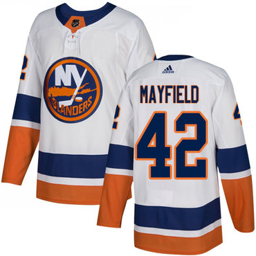 Youth New York Islanders #42 Scott Mayfield Reebok White Away Authentic NHL Jersey