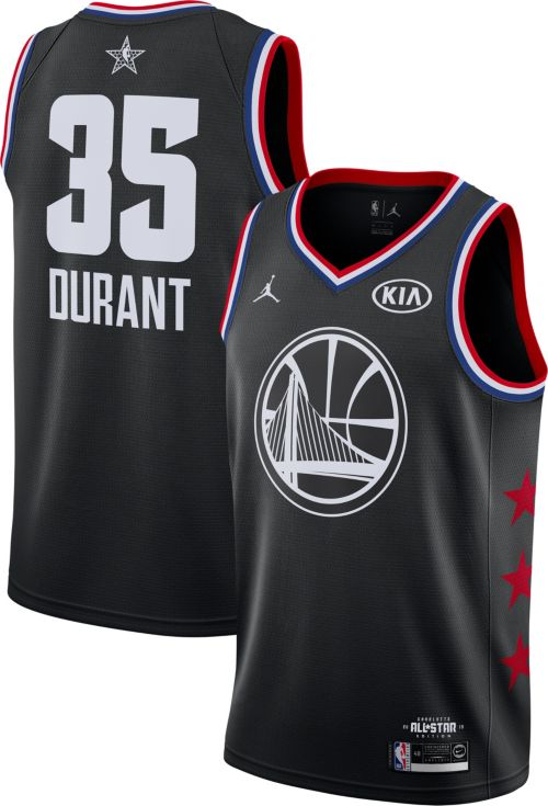 Jordan Men's 2019 NBA All-Star Game #35 Kevin Durant Black Dri-FIT Swingman Jersey