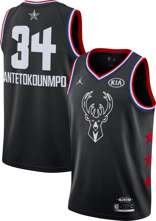 Jordan Men's 2019 NBA All-Star Game #34 Giannis Antetokounmpo Black Dri-FIT Swingman Jersey