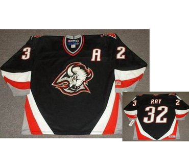 Men's Buffalo Sabres #32 ROB RAY 1999 Black CCM Vintage Throwback Jersey