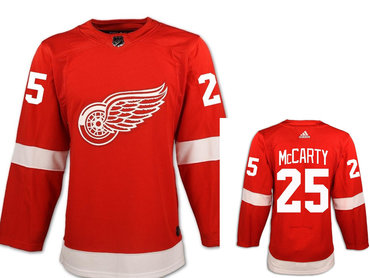 Men's Adidas Detroit Red Wings #25 Darren McCarty Red Home Authentic NHL Jersey