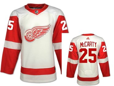 Men's Adidas Detroit Red Wings #25 Darren McCarty White Road Authentic NHL Jersey