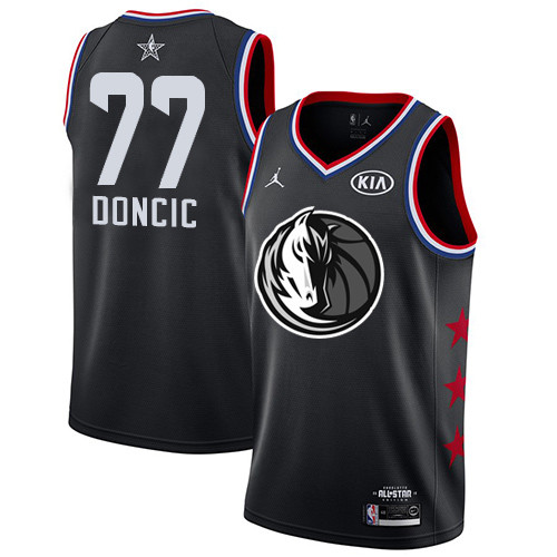 Mavericks #77 Luka Doncic Black Basketball Jordan Swingman 2019 All-Star Game Jersey