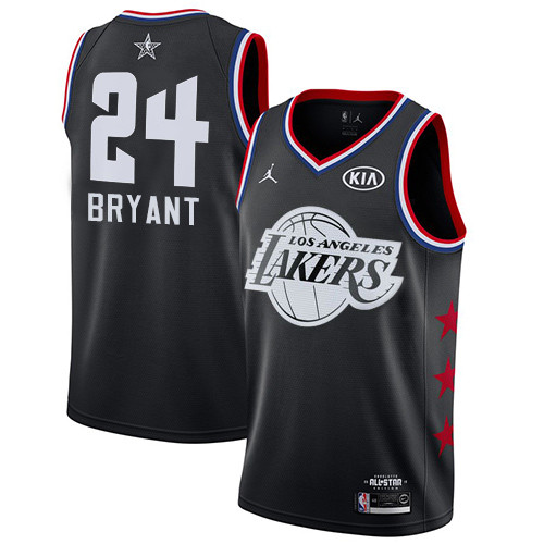 Lakers #24 Kobe Bryant Black Basketball Jordan Swingman 2019 All-Star Game Jersey