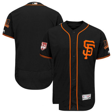Men's SF San Francisco Giants Black 2019 Spring Training Flexbase Jersey
