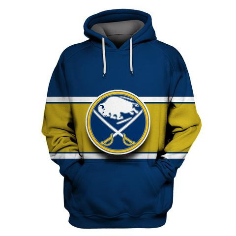 Men's Buffalo Sabres Blue All Stitched Hooded Sweatshirt