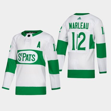 Men's Toronto Maple Leafs #12 Patrick Marleau St. Pats Road Authentic Player White Jersey