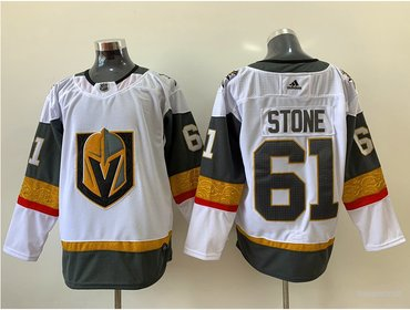 Adidas Vegas Golden Knights #61 Mark Stone White Road Authentic Stitched NHL Jersey