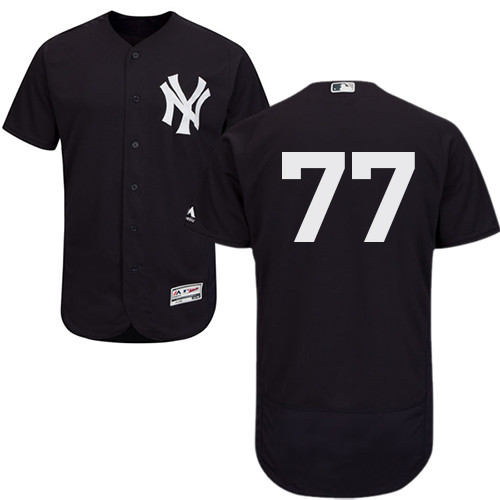 Men's New York Yankees #77 Clint Frazier Navy Blue Flexbase Authentic Collection Stitched Baseball Jersey