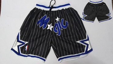 Magic Black Stitched Shorts