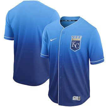 Men's Kansas City Royals Blank Blue Drift Fashion Jersey