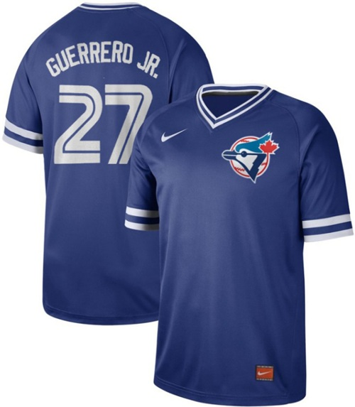 Blue Jays #27 Vladimir Guerrero Jr. Royal Authentic Cooperstown Collection Stitched Baseball Jersey