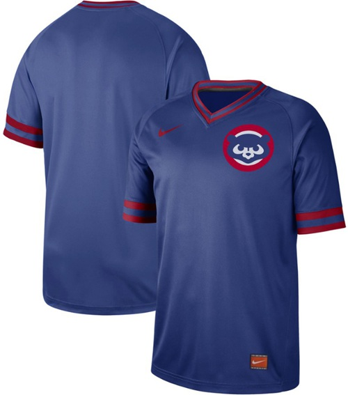 Cubs Blank Royal Authentic Cooperstown Collection Stitched Baseball Jersey