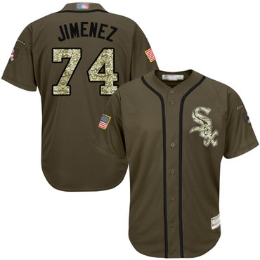 White Sox #74 Eloy Jimenez Green Salute to Service Stitched Baseball Jerseys