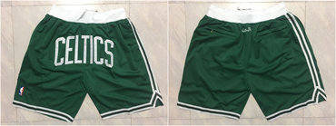 Celtics Green Just Don Mesh Shorts